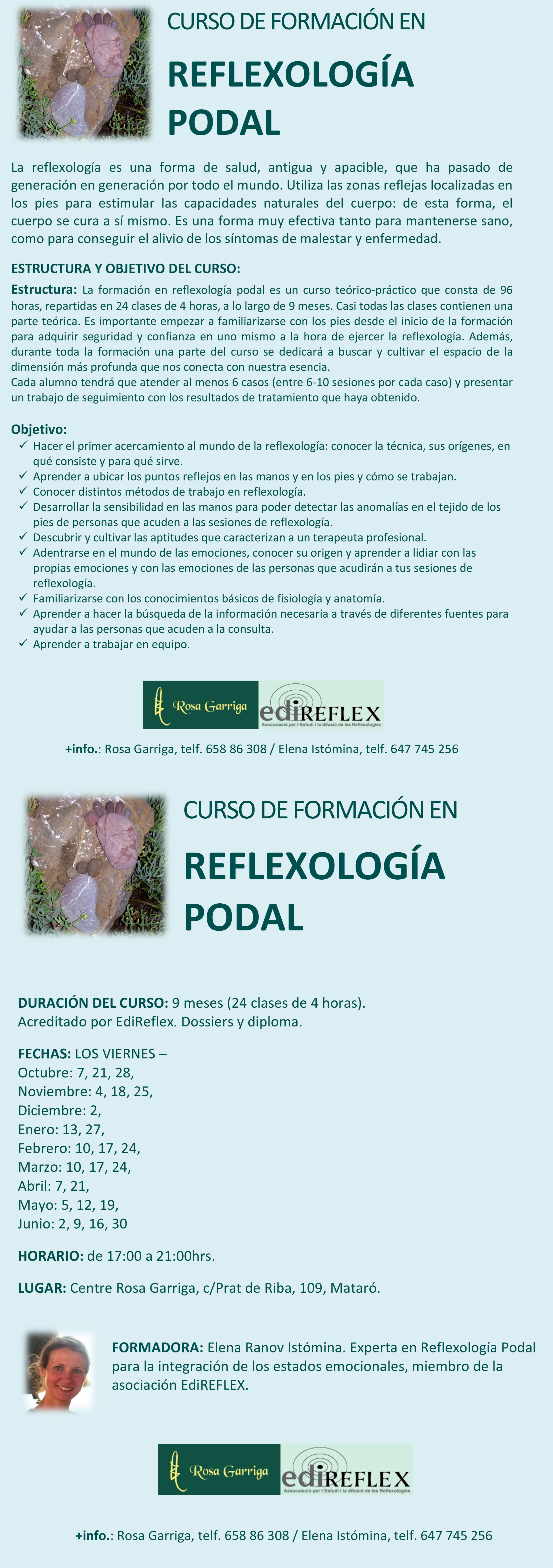 CURSO DE FORMACIÓN EN REFLEXOLOGÍA PODAL